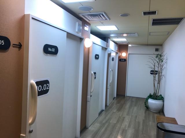 関空のシャワー室
