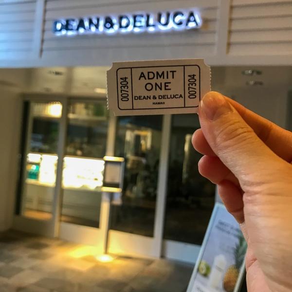 ディーンアンドデルーカ整理券の画像