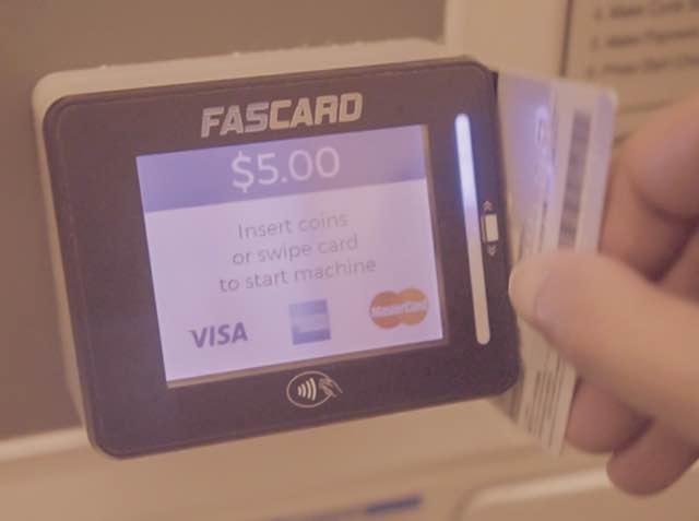 クレジットカードで洗濯
