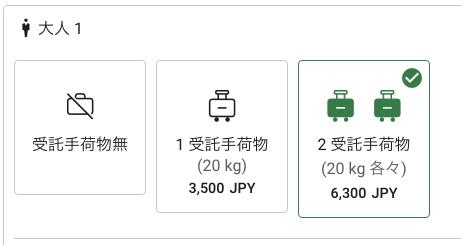 エアアジアの受託手荷物