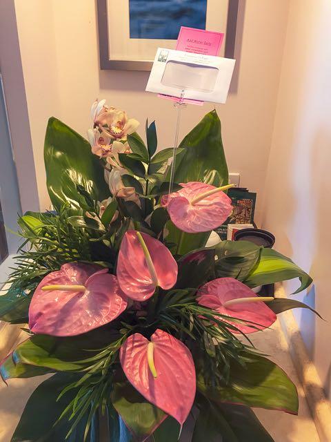 ロイヤルハワイアンホテルでお花