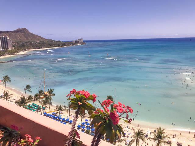 ロイヤルハワイアンホテルからの眺め